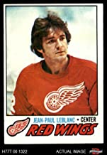 1977 Topps # 133 J.P. LeBlanc Red Wings (Hockey Card) Dean's Cards 5 - EX Red Wings