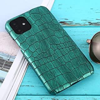 For iPhone 11 Shockproof Crocodile Texture Protective Case New(Red) Hengk (Color : Green)