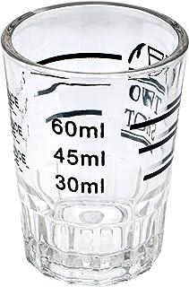 كوب قهوة اسبريسو من الزجاج مع طباعة تو شوت، سعة 60 مل