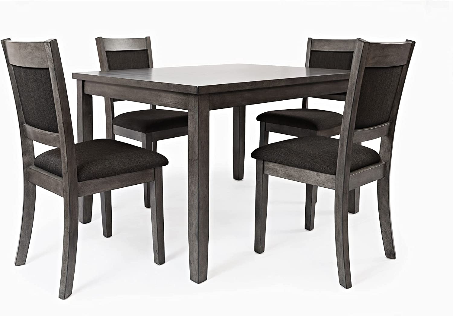 Benjara 2021 spring and summer Ranking TOP19 new 5 Piece Dining Set Chairs with Padded Gray