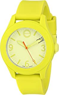 ESQ Movado Women's 07101453 ESQ ONE Yellow Silicone-Wrapped Stainless Steel Watch