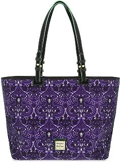 Disney Dooney & Bourke Madame Leota Haunted Mansion Shopper Tote Bag Purse, Purple, Large