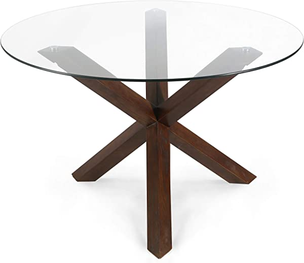 POLY BARK EM 339 WAL Kennedy 48 Round Dining Table Walnut