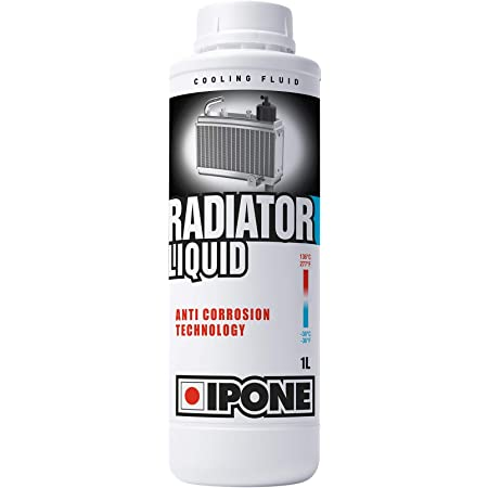 IPONE - Liquide de refroidissement Moto - Bidon 1 Litre - Radiator Liquid - Protection Anti-Gel jusqu'à -36°C - Technologie Anti-corrosion - Prêt à l'emploi