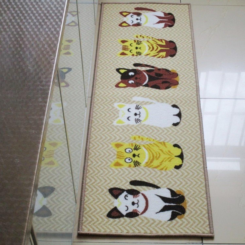 Doormat Skin Friendly cat mat Anti Slip Kitchen Rug Floor Door Ground pad Water Absorption Carpet Bedroom Living Room Door entrances Patio Entry Ways Footcloth-A 16  47inch(40  120cm)