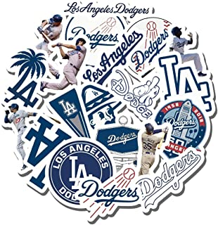 Dodgers Party - 19 PCS Los Angeles Aesthetic Dodgers Vinyl Waterproof Stickers Pack for Water Bottle Laptop Luggage Guitar...
