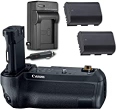 Canon BG-E22 Battery Grip for Canon EOS R & EOS Ra with 2 Replacement Batteries & AC/DC Travel Charger