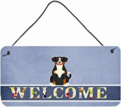 Caroline's Treasures BB5619DS812 Entlebucher Welcome Metal Print, 8 x 12, Multicolor
