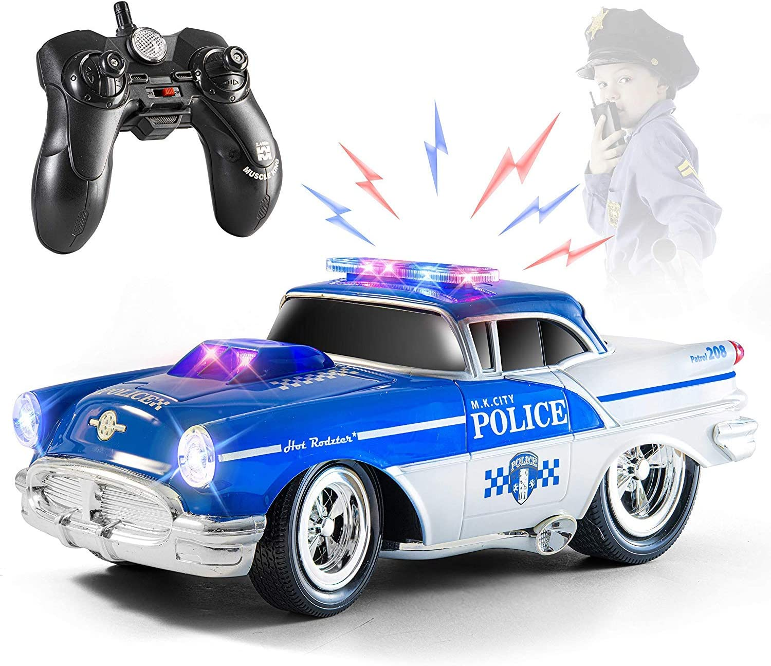 Top Race Remote Control National products Police Car Gift Toy RC for Kids fo Free Shipping New