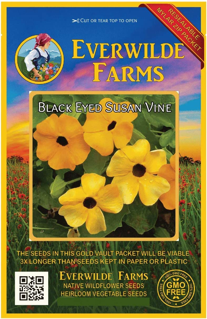 Everwilde Farms Limited time cheap sale Fashionable - 1 Oz Vine Susan Seeds Wildflower Black-Eyed