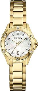 Bulova - Diamond - Reloj de pulsera para mujer, diseño moderno, color oro rosa