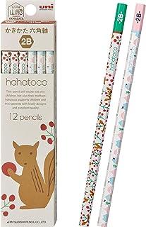 三菱鉛筆 かきかた鉛筆 ハハトコ HT01 2B リス&家 1ダース K56102B