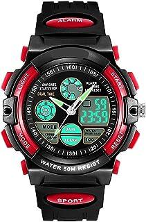 Kids Watch Yuan Ou LED Display Digital Children Watch 50M Waterproof Kids Watches Multifunction Quartz Boys Students Wrist...