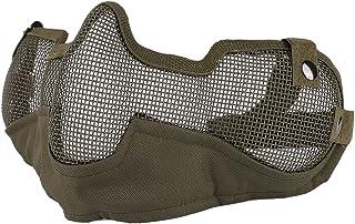 BOBORA フェイスマスク ハーフメッシュ サバゲー マスク 耳保護付き サバイバルゲーム エアガン 曇らないフェイスガード サバゲー装備 コスプレ用