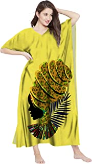 RADANYA Women's African Print Maxi Long Kaftan Cotton Casual Cover up Dress