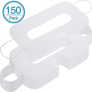 Paquete de 150 Máscaras Desechables Máscara de Ojos Sanitaria no Tejida Cubierta de Máscara de Ojos Blanca Compatible con Auriculares VR H-T-C Vive Auriculares de Realidad Virtual
