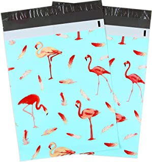 Ohuhu 100 Pcs 10 x 13 Flamingo Poly Mailers, Christmas Gift Packing Bags, Envelopes Shipping Bags with Self Seal Adhesive, Waterproof and Tear-Proof Postal Bags