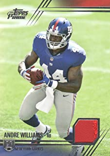 2014 Topps Prime Football Jersey Patch #PP-AW Andre Williams New York Giants