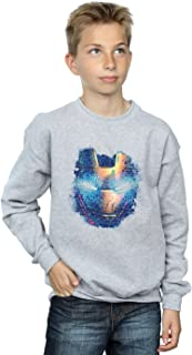 Marvel Jungen Iron Man Distressed Head Sweatshirt