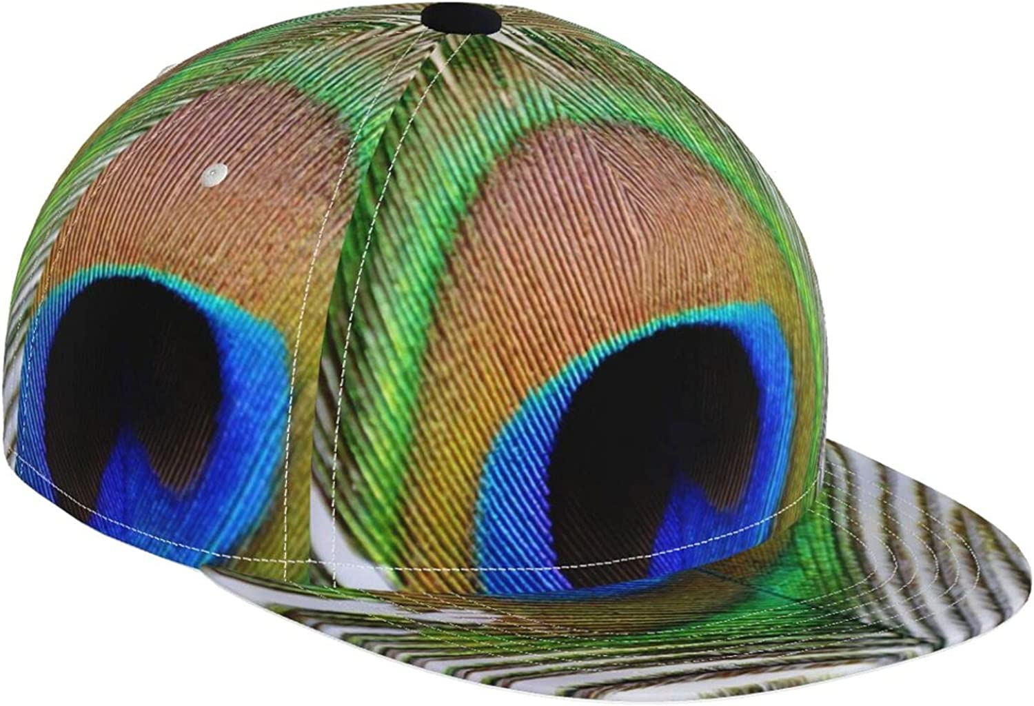 overseas New item KINESONSS Fantasy Peacock Feather Baseball Adjust Hat Casual Cap
