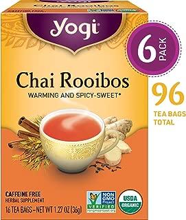 Yogi Teas, 16 Tea Bags (Pack of 6), Chai Rooibos
