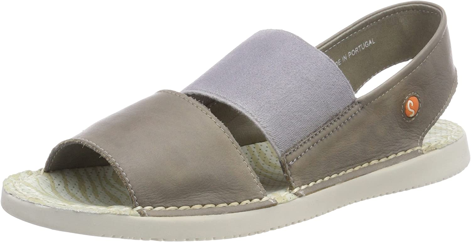Softinos Tai - Taupe Washed Leather (Beige) Womens Sandals