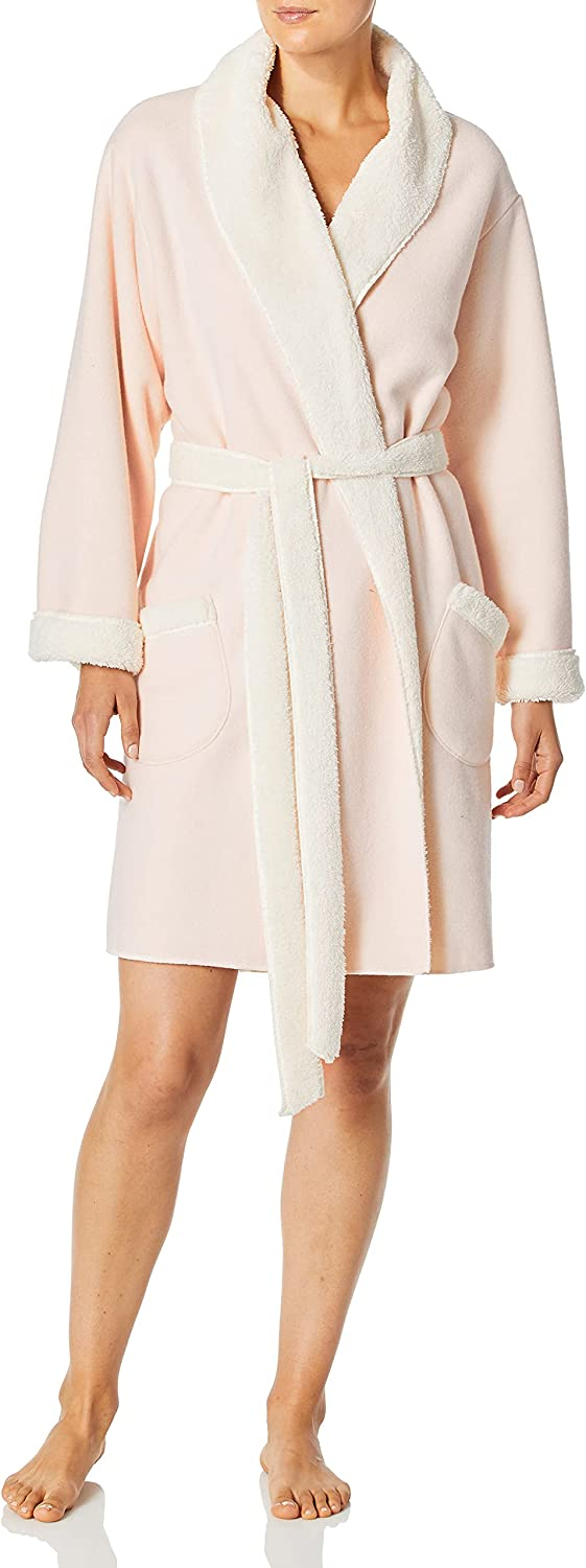 Splendid Women's Relaxed Fit Wrap Robe with Plush Lining Regular & Plus Size