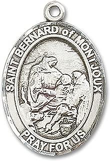 Heartland Men's St. Bernard of Montjoux Sterling Silver Medal + Patron Saint of Mountain Climbers