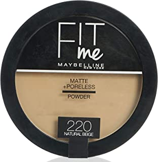 Maybelline New York New York Fit Me Face Powder For Women - Natural Beige 220, 14 Gm