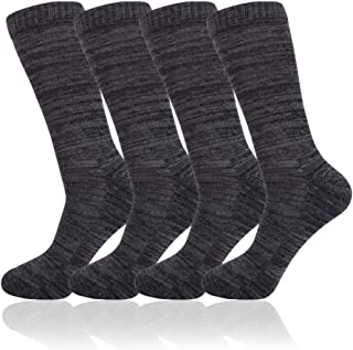 Mens Crew Athletic Socks with Cushion Performance for Casual Workout 4 pack