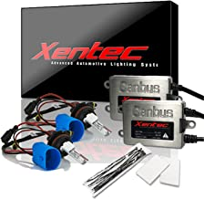 Xentec Xenon bulb 9007 (HB5) 8000K Hi/Lo bundle with 45W Error Free Slim CANBUS Ballast (Light Blue, high beam halogen)