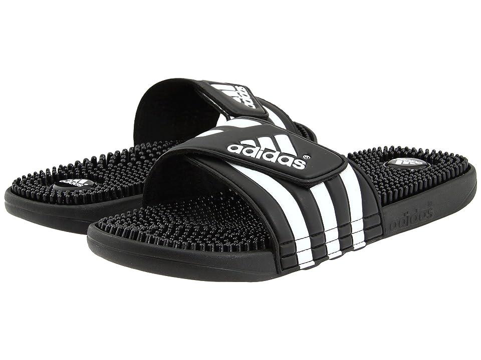 adidas adissage (Black/White) Shoes