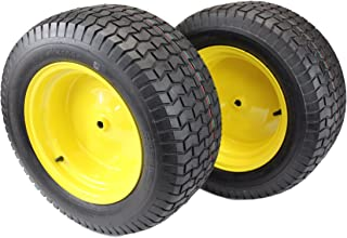 Antego Tire & Wheel (Set of 2) 22x9.50-12 Tires & Wheels 4 Ply for Lawn & Garden Mower Turf Tires