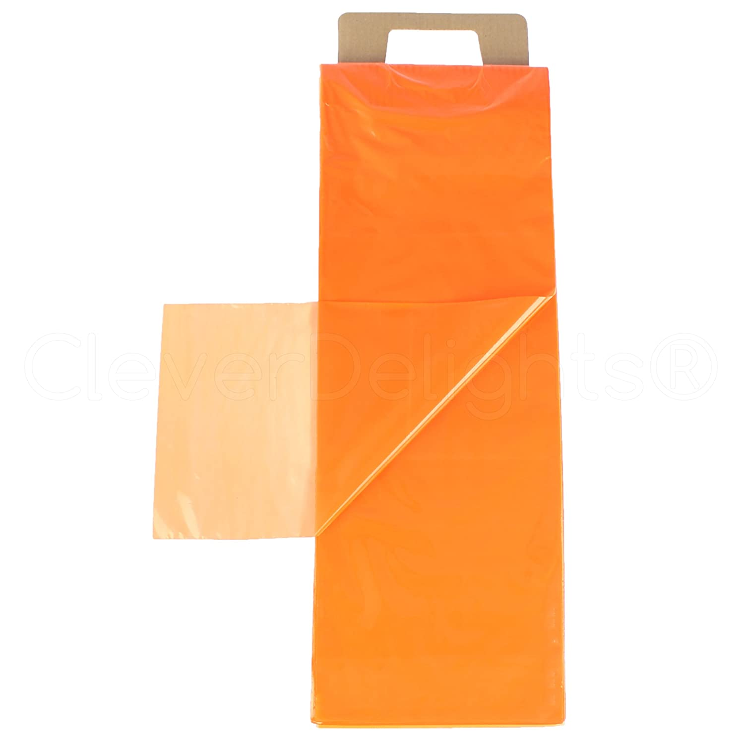 All items in the store CleverDelights Orange Newspaper Bags - 7.5