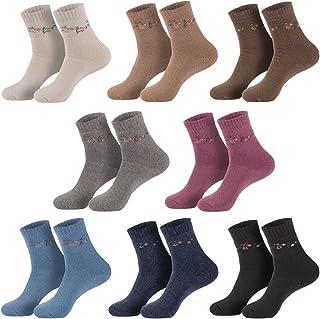 6 pares de calcetines de invierno para mujer & Angora, inspirado en colores mezclados