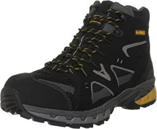 Dewalt Anchor Safety Shoes, 41 EU, 50085-126-41, Black/Grey/Mikado Yellow