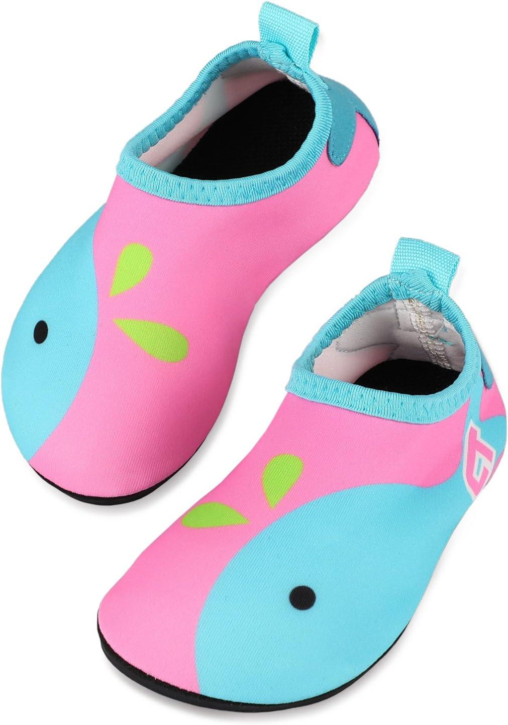 TAGVO Baby Boys Girls Water Shoes, Non-Slip Swim Shoes Barefoot Skin Aqua Socks for Beach Swim Pool Toddler Kids