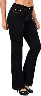 88962e7509302 ESRA Damen Jeans Bootcut Jeanshose Schlaghose Damen Hose bis Übergröße 50,  52, 54 J111