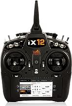 Spektrum iX12 12-Channel 2.4Ghz Telemetry DSMX RC Tx (Transmitter Only) | 250 Model Memory | Touchscreen | WiFi & Bluetooth Compatible | Black