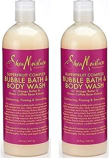 SheaMoisture SuperFruit Complex Bubble Bath & Body Wash, 16 Ounce (Pack of 2)