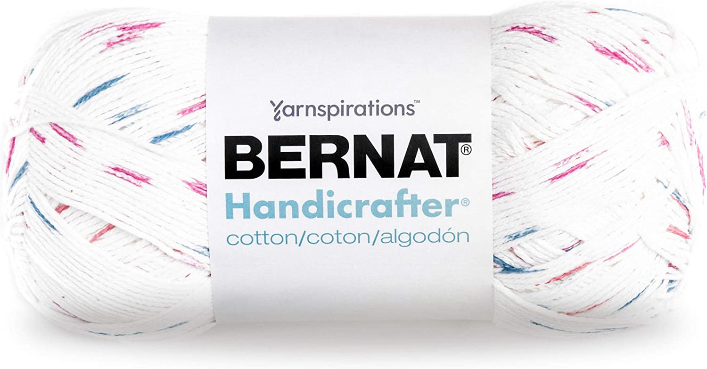 Bernat Handicrafter Cotton Yarn, Gauge 4 Medium Worsted, Marble Print