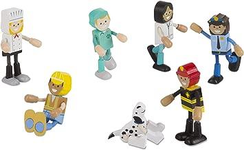 Melissa & Doug Wooden Flexible Figures- Careers Dolls for Dollhouses