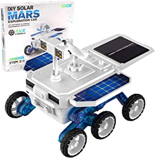 X TOYZ STEM Eco Science Building Kit DIY Solar Power Toy Car, Learning Science Building Space Mars Rover Car Toys Aged 8-1...