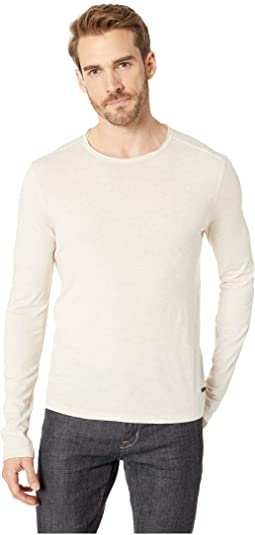 Long Sleeve Crew with Shaped Hem in Cotton/Modal