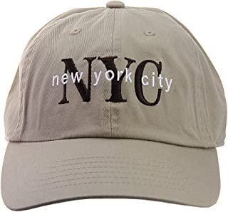 Unisex NYC New York City Embroidered Adjustable Low Profile Cap