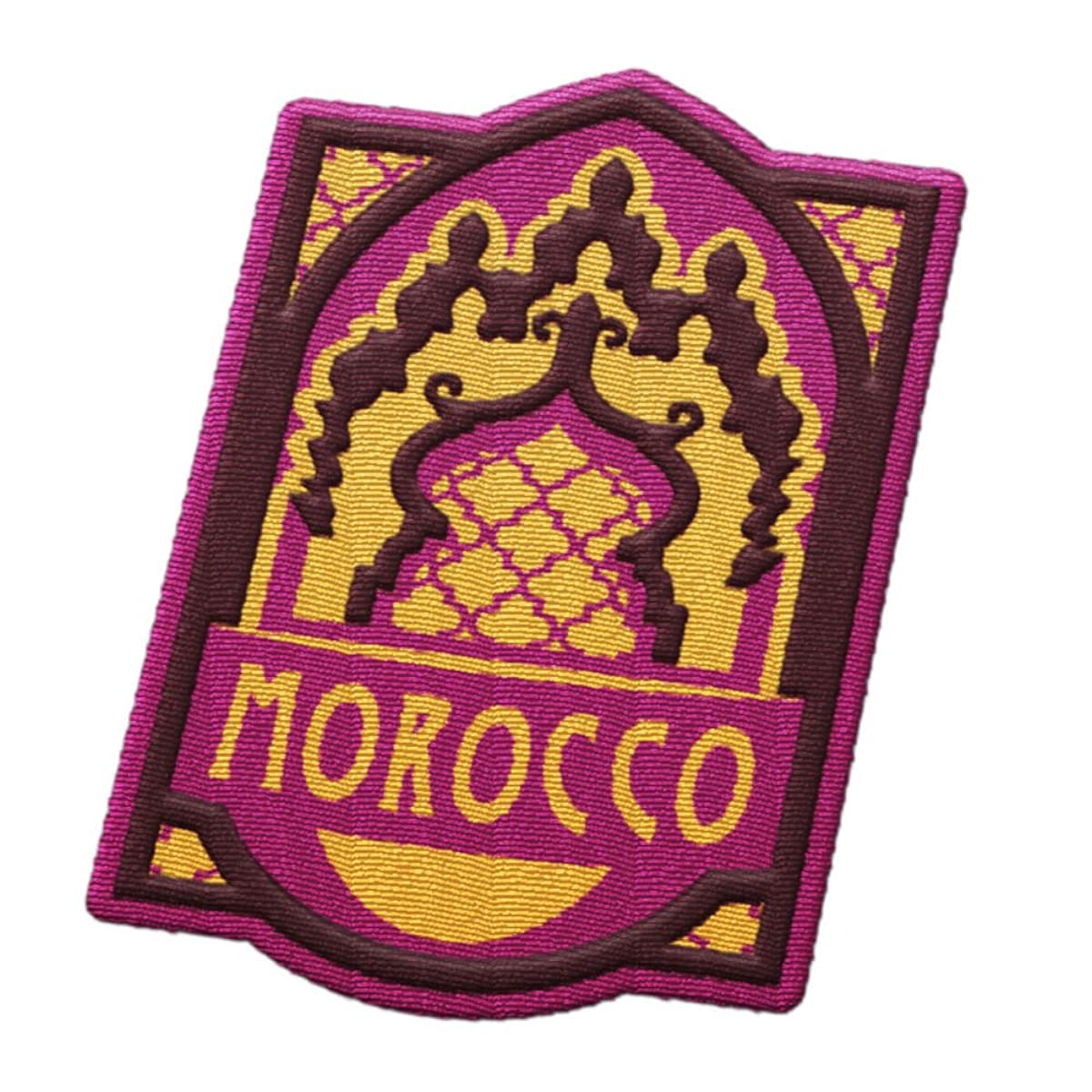 Morocco Travel Patch - Moroccan gates / Casablanca or Tangiers or Marakesh / Great souvenir for backpacks and luggage / Backpacking and travelling badge.