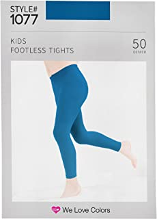 Kids Microfiber Footless Tights - We Love Colors - 6 Months - 14 Yrs