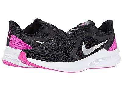 Nike Downshifter 10 (Black/Metallic Silver/Fire Pink) Women