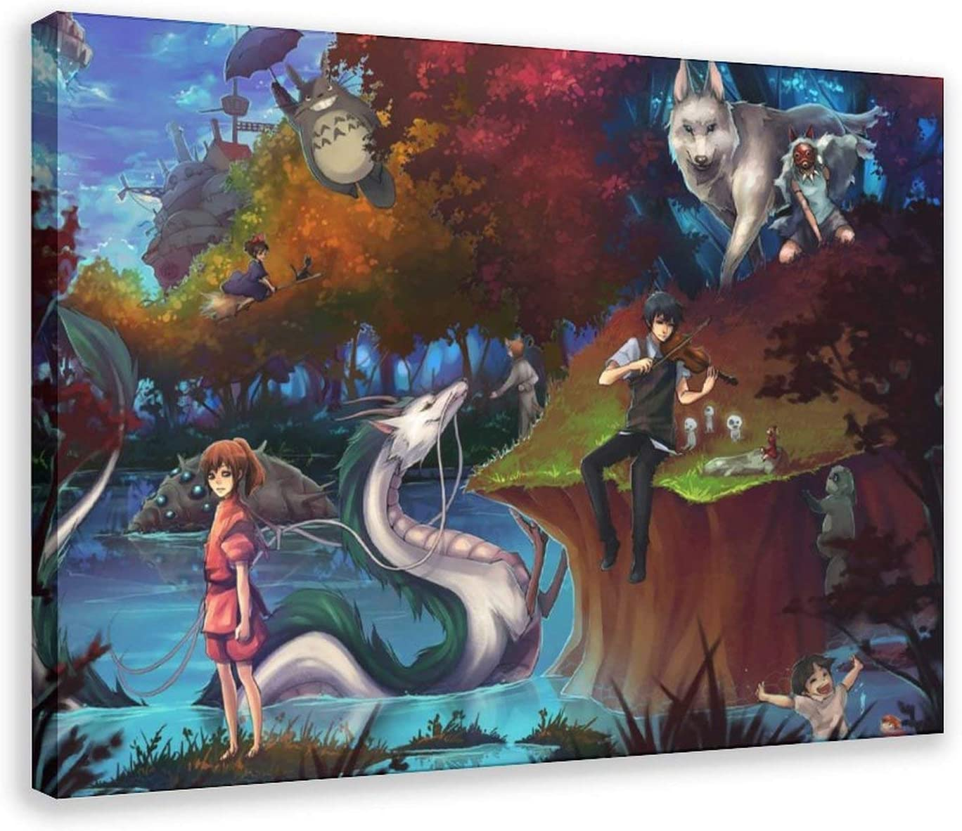 sold out Anime Indefinitely Poster Studio Ghibli Canvas Art Pi Decor Print Wall