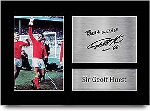 HWC Trading A4 Geoff Hurst England geschenken afgedrukt ondertekende handtekening foto voor fans en supporters - A4